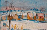 044-Winter scenery-oil-40x60